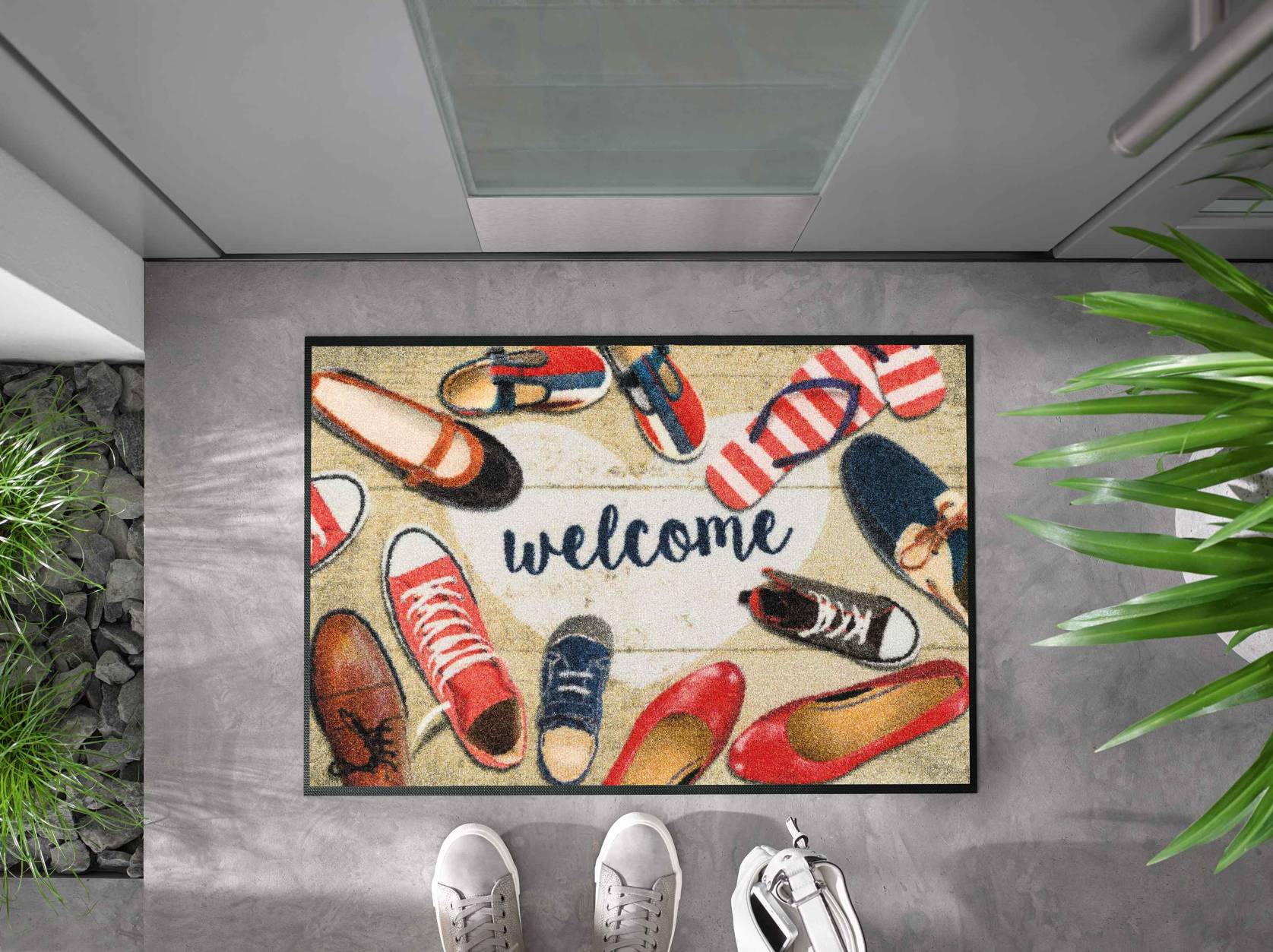 Shoes-Welcome 50x75cm